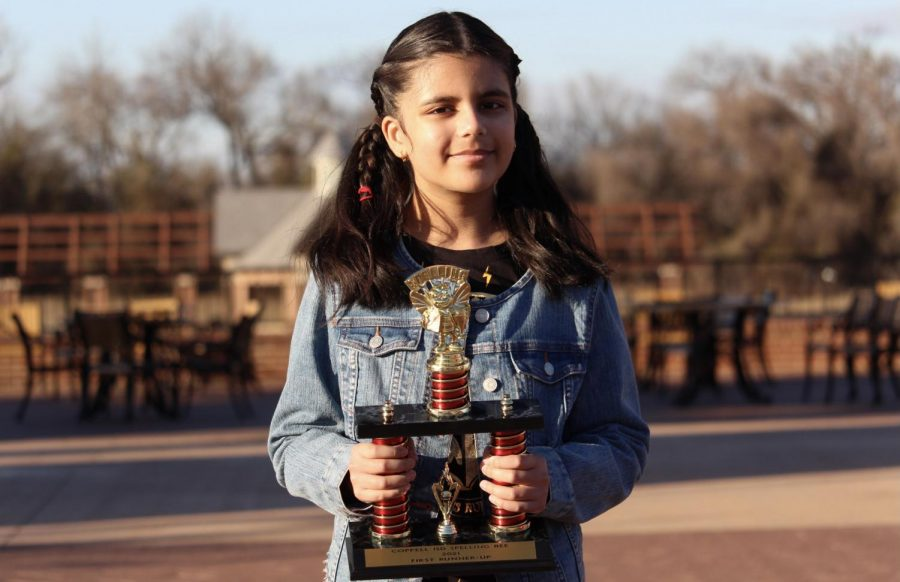 Valley Ranch Elementary fifth grade Coppell ISD Spelling Bee first runner-up Aditri Amresh made history as one of the first Coppell ISD winners from an elementary level. Amresh will move onto the Dallas County Spelling Bee on Feb.19 at the Vonita White Administration Building Boardroom.