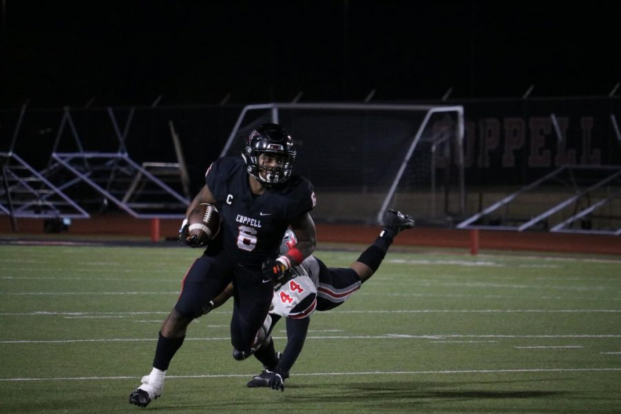 Coppell senior running back Jason Ngwu was selected for the first team offense All-District 6-6A team.