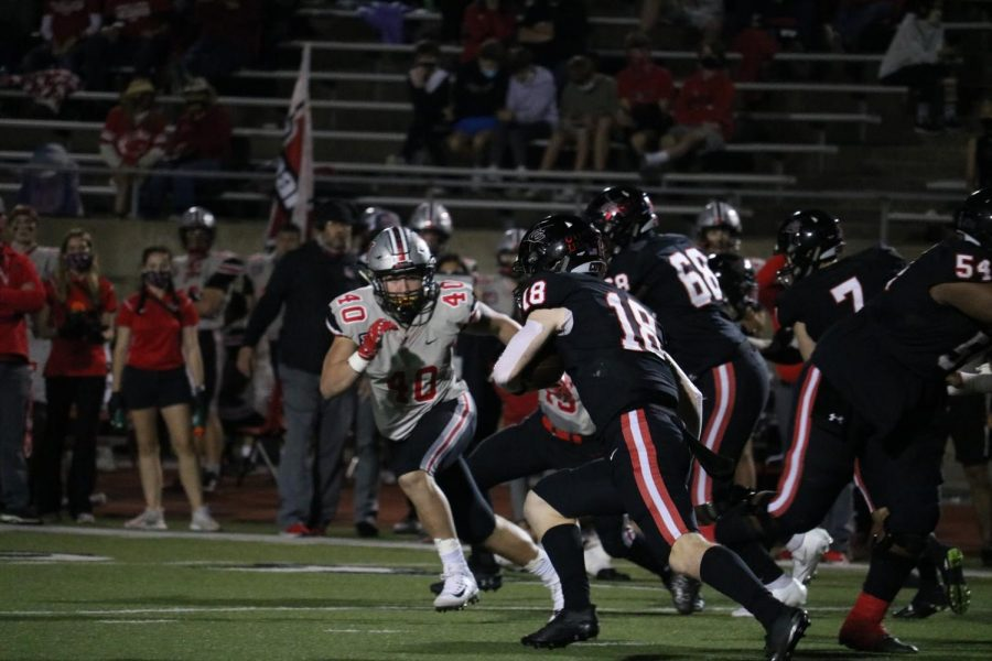 Coppell senior offensive linemen Derrick Bell received honorable mention for offense on All-District 6-6A.