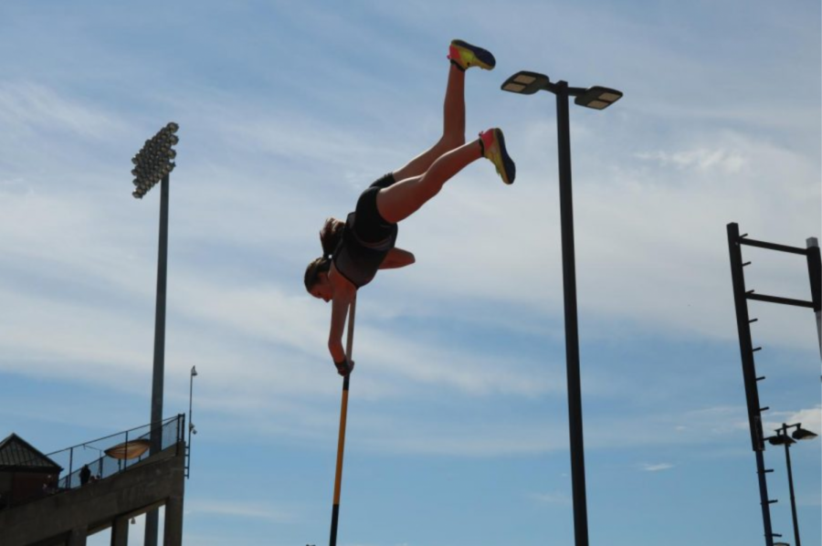 Coppell sophomore pole vaulter/hurdler Skyler Schuller swings through at last seasons Coppell Relays meet. Coppell hosts the Coppell Relays tomorrow at Buddy Echols Field, starting at 1 p.m.