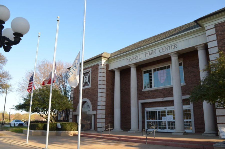 Coppell Town Center flies flags at half mast on Tuesday in wake of the Atlanta shooting. City Council meetings are regularly held on the second and fourth Tuesday of each month at 7:30 p.m.
