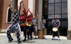 The Bandan Koro African Drum & Dance Ensemble performs at Lewisville City Hall on Saturday at ColorPalooza. The event celebrated spring with art demonstrations, food trucks, local vendors, musical performances and interactive experiences.