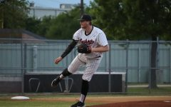 Coppell senior Chayton Krauss pitches against Lewisville at the Coppell ISD Baseball/Softball Complex on Tuesday. The Cowboys host Rockwall Heath tomorrow at the Coppell ISD Baseball/Softball Complex, with first pitch at 12 p.m.