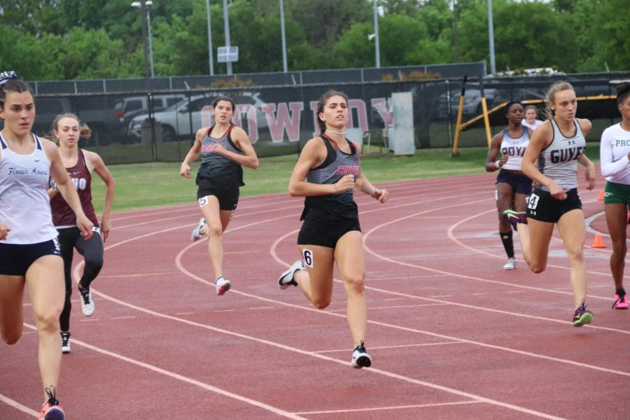 Coppell junior runner Olivia Marez competes in the women's 400-meter run at the Class 6A 5-6 Area Meet at Buddy Echols Field on April 15. The Coppell girls track and field team placed second while the boys placed fifth at the area meet.