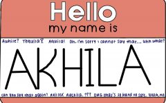 "The name Akhila originates from Sanskrit and means ""whole"" or ""complete."" The Sidekick CHS9 editor Akhila Gunturu thinks everyone should learn how to pronounce names correctly in order to respect the person."