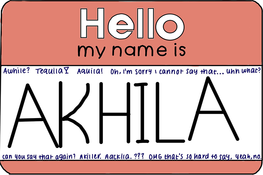 """The name Akhila originates from Sanskrit and means """"whole"""" or """"complete."""" The Sidekick CHS9 editor Akhila Gunturu thinks everyone should learn how to pronounce names correctly in order to respect the person."""