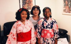 May is Asian American - Pacific Islander Heritage Month.  The Sidekick staff writer Yasemin Ragland (far right) proudly wears a kimono to celebrate her Japanese heritage.