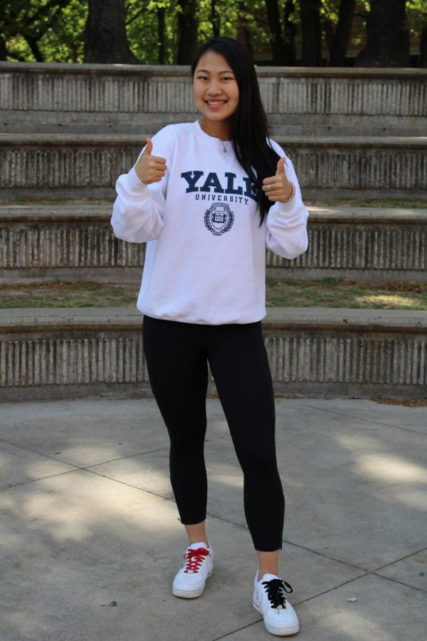 Coppell High School senior Helen Tan is ranked No. 5 in the CHS class of 2021. Tan will attend Yale University for fencing. Though her major is undecided, she is considering either molecular and developmental biology or sociology.