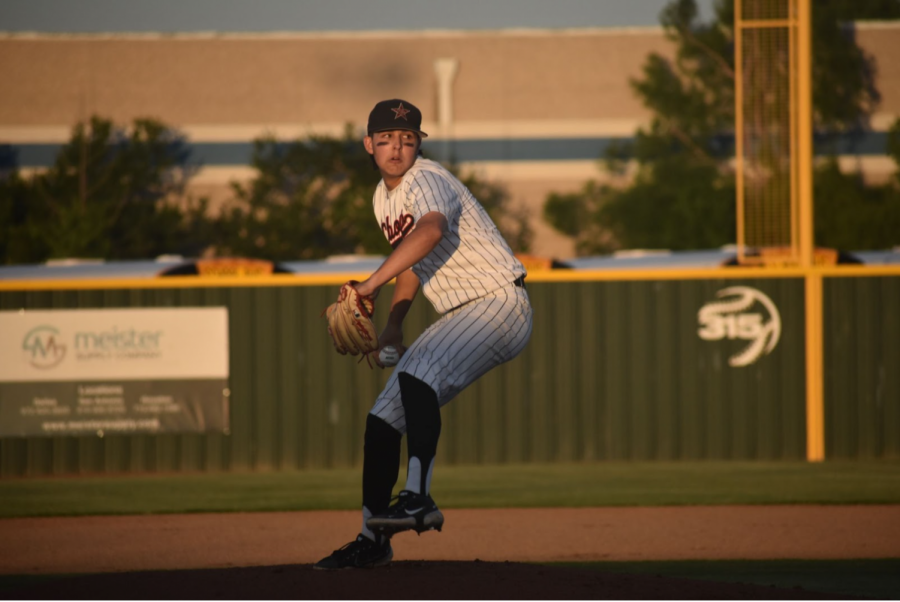 Coppell senior Will Rodman pitches in the second inning against Denton Guyer on Thursday at the Coppell ISD Baseball/Softball Complex. Coppell beat Guyer, 2-0, in Game 1 on Thursday and, 8-3, at Guyer last night to advance to the Class 6A Region I area playoffs.