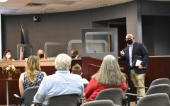 Coppell Middle School West assistant principal Joseph Smith is approved as the new principal of New Tech High @ Coppell at the Board of Trustees meeting on Monday. Smith expressed his appreciation for the board's approval and introduced his family in the audience.