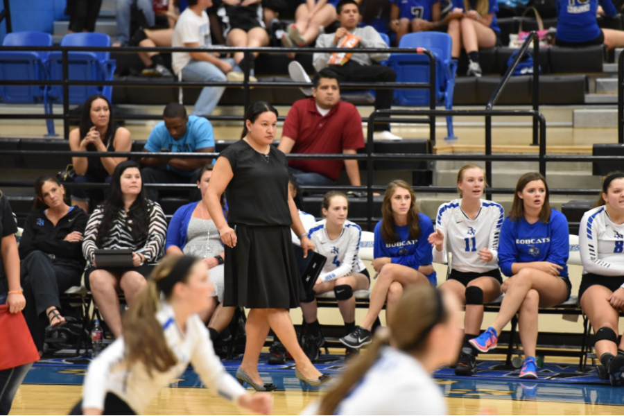Northwest ISD assistant athletic director Libby Pacheco, seen here during her time as Byron Nelson volleyball coach, has been named Coppell head volleyball coach and girls athletic coordinator. Pacheco takes over for Julie Price, who led the Cowgirls to two state championships.