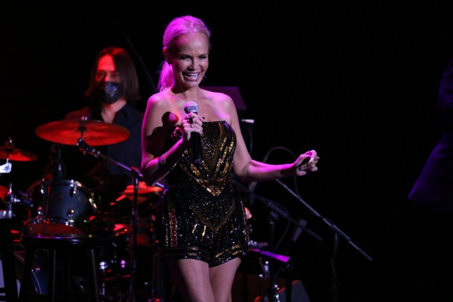 Emmy and Tony Award-winning actress and singer Kristin Chenoweth interacts with the audience at the Coppell Arts Center on Saturday. The Takeoff Music Festival from Sept. 9-12 marked the official opening of the arts center as a performance and entertainment venue for Coppell residents.