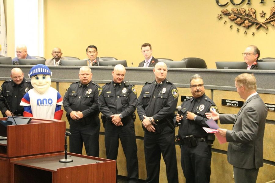 The Coppell Police Department discusses the importance of having a National Night Out at the Coppell City Council meeting on Tuesday. National Night Out was an approved holiday for a crime and drug prevention event by the city council.