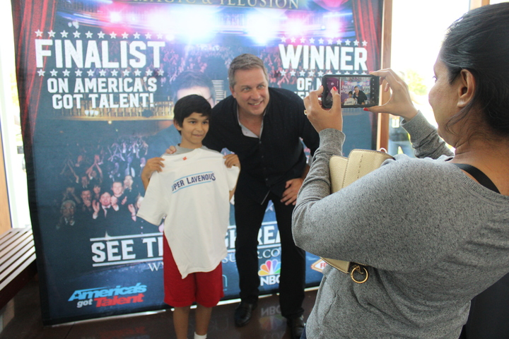 Magician Mike Super comes out to meet his fans, sign T-shirts, and take photos at the Coppell Arts Center on Sunday afternoon. The Coppell Arts Center spotlighted Super to conclude its last day of the Takeoff Arts & Music Festival.