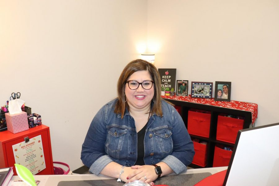 CHS9 Principles of arts, AV Tech and communications teacher Stephanie Hinojosa returns to Coppell after teaching at the Flower Mound 9th Grade Campus for five years.  Hinojosa is a new teacher at CHS9 and she graduated from Coppell High School in 2005.
