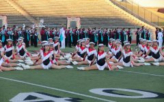 On Wednesday evening, the Lariettes perform its program, The Wild Wild West, at Buddy Echols Field for the homecoming pep rally. The pep rally included a parade of co-curricular and extracurricular programs, as well as performances from many of the school's fine arts programs. Photo by Sruthi Lingam
