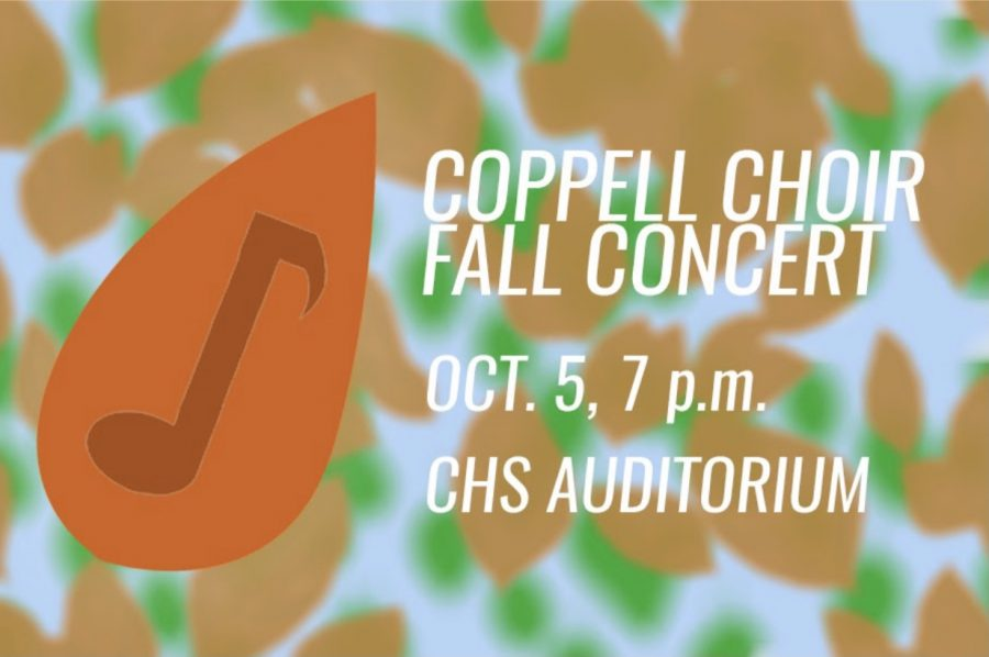 The Coppell Choir fall concert on Tuesday at the CHS Auditorium marks the first live Coppell Choir concert in over a year. The Sidekick staff writer Minnie Gazawada previews the show. Graphic by Srihari Yechangunja