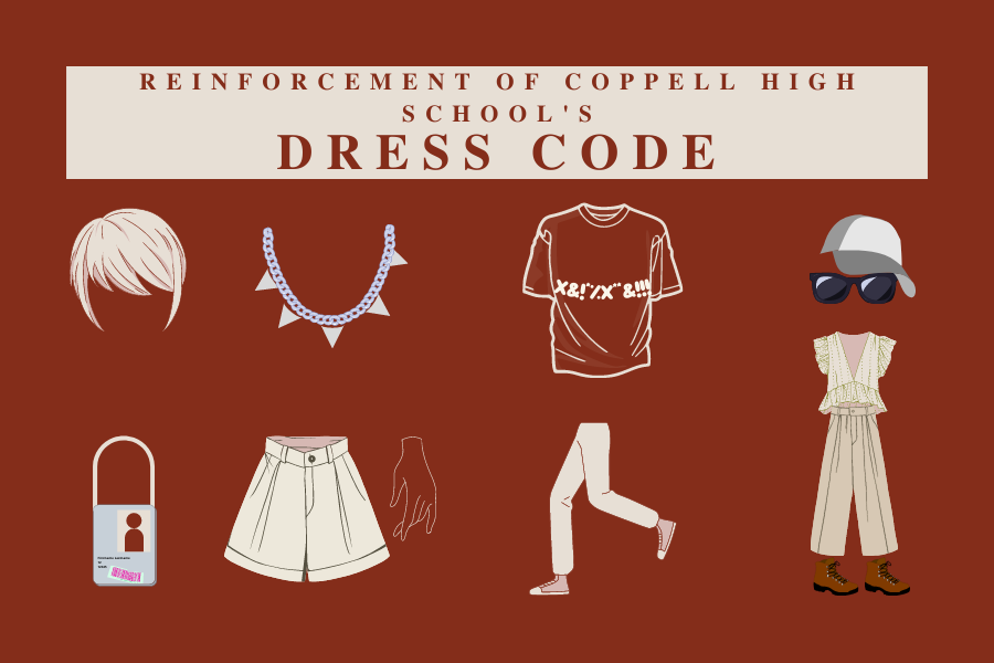 Coppell High School Principal Laura Springer announced the reinforcement of CHSs dress code.