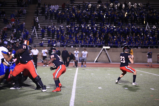 Coppell junior quarterback Jack Fishpaw passes against Hebron at Buddy Echols Field on Oct. 15. The Cowboys travel to Max Goldsmith Stadium and take on state-ranked Lewisville on Friday, with kickoff at 7 p.m.